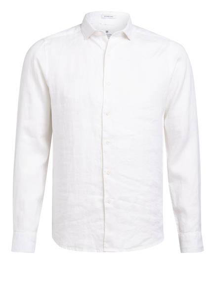 DSTREZZED Leinenhemd Regular Fit, Farbe: WEISS (Bild 1)