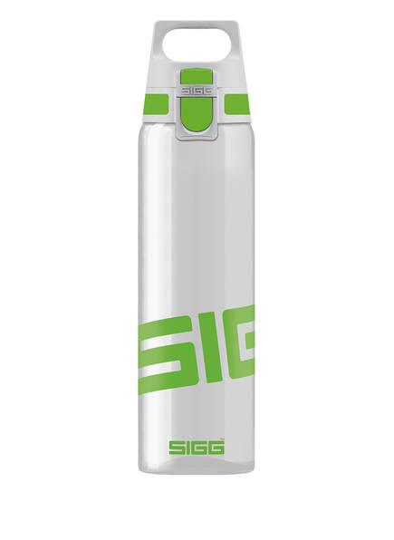 SIGG Trinkflasche TOTAL CLEAR ONE, Farbe: HELLGRAU/ GRÜN (Bild 1)