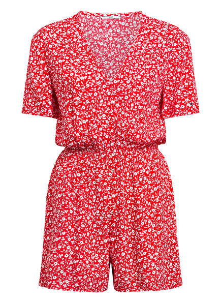 TOMMY JEANS Jumpsuit, Farbe: ROT/ WEISS (Bild 1)