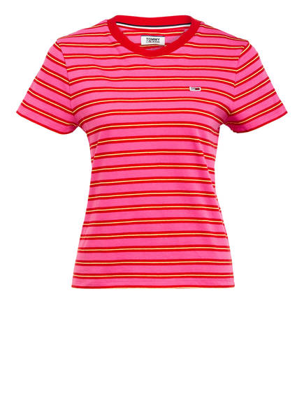 TOMMY JEANS T-Shirt, Farbe: ROSA/ ROT (Bild 1)