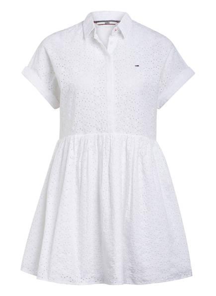 TOMMY JEANS Kleid mit Lochspitze, Farbe: WEISS (Bild 1)