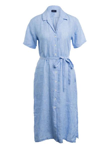GANT Hemdblusenkleid aus Leinen, Farbe: HELLBLAU MELIERT (Bild 1)