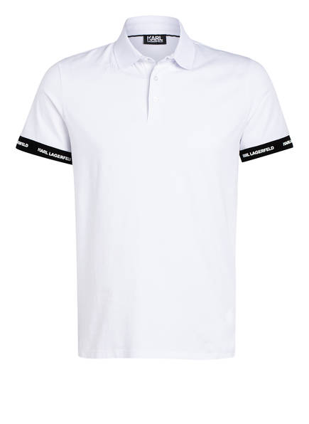 KARL LAGERFELD Jersey-Poloshirt, Farbe: WEISS (Bild 1)
