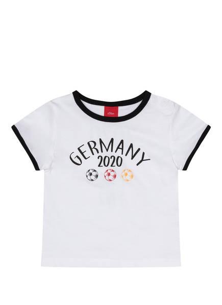 s.Oliver T-Shirt EM 2020, Farbe: WEISS/ SCHWARZ (Bild 1)