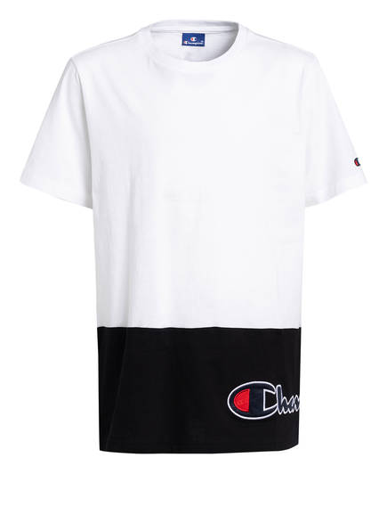 Champion T-Shirt, Farbe: WEISS/ SCHWARZ (Bild 1)