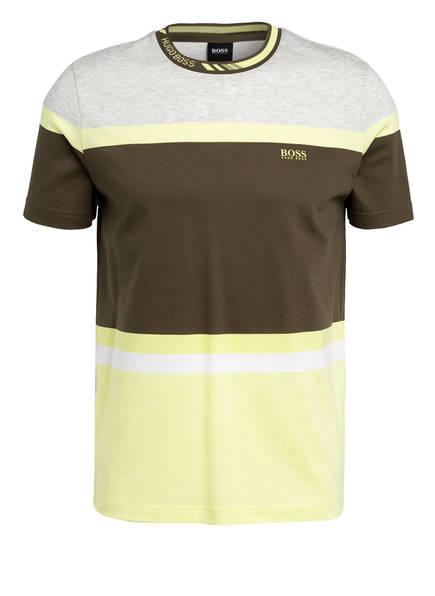 BOSS T-Shirt TEE 8, Farbe: OLIV/ GELB/ HELLGRAU MELIERT (Bild 1)