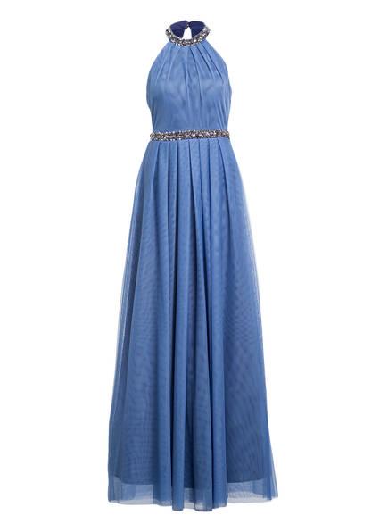 Young Couture by BARBARA SCHWARZER Abendkleid mit Schmucksteinbesatz, Farbe: BLAU (Bild 1)