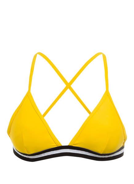 FIRE+ICE Triangel-Bikini-Top HANKA , Farbe: GELB/ SCHWARZ/ WEISS (Bild 1)