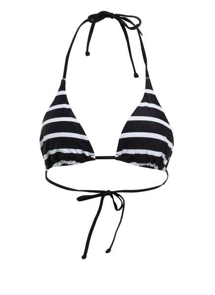 FIRE+ICE Triangel-Bikini-Top GABY , Farbe: SCHWARZ/ WEISS (Bild 1)