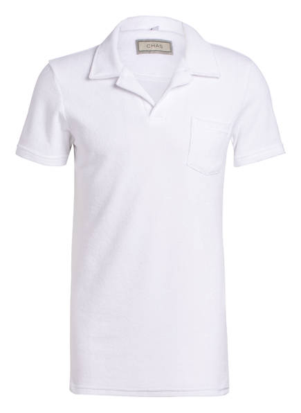 CHAS Frottee-Poloshirt, Farbe: WEISS (Bild 1)