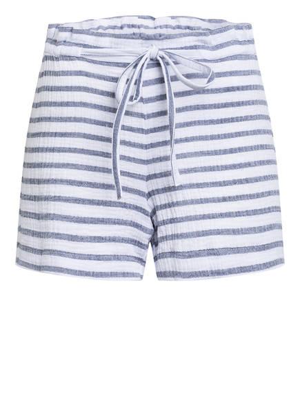 heart MIND Paperbag-Shorts, Farbe: WEISS/ GRAU (Bild 1)