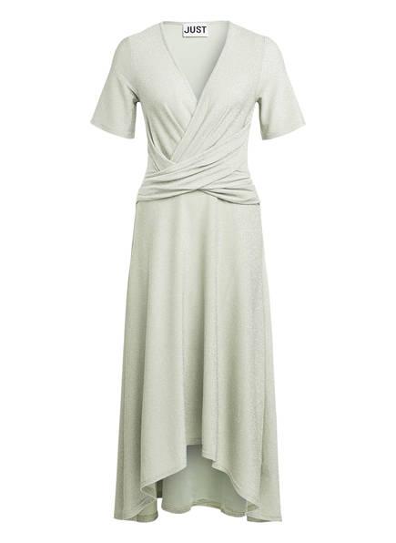 JUST FEMALE Kleid UTOPIO mit Glitzergarn, Farbe: HELLGRÜN/ SILBER (Bild 1)