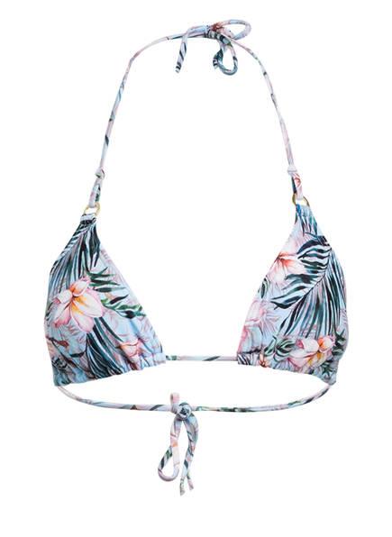 Hot Stuff Triangel-Bikini-Top BALI FLOWER, Farbe: BLAU/ ROSA (Bild 1)