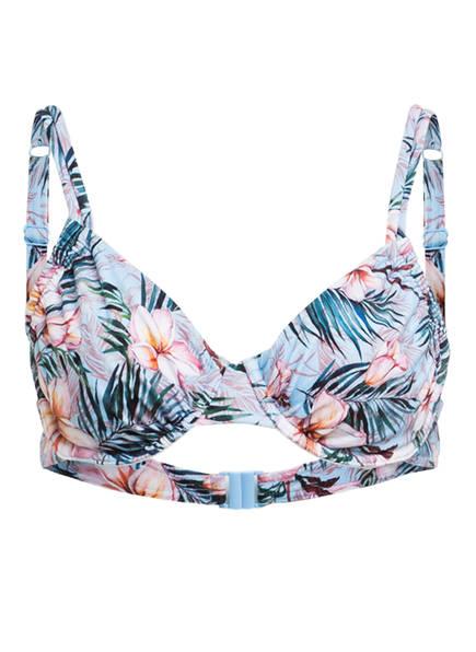 Hot Stuff Bügel-Bikini-Top SOLIDS, Farbe: BLAU/ ROSA (Bild 1)