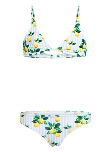 Hot Stuff Triangel-Bikini CAPRI, Farbe: HELLBLAU/ WEISS/ GELB (Bild 1)