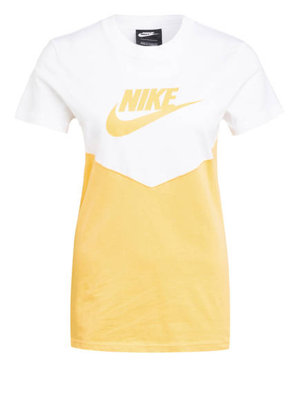 Nike T-Shirt HERITAGE, Farbe: WEISS/ GOLD (Bild 1)