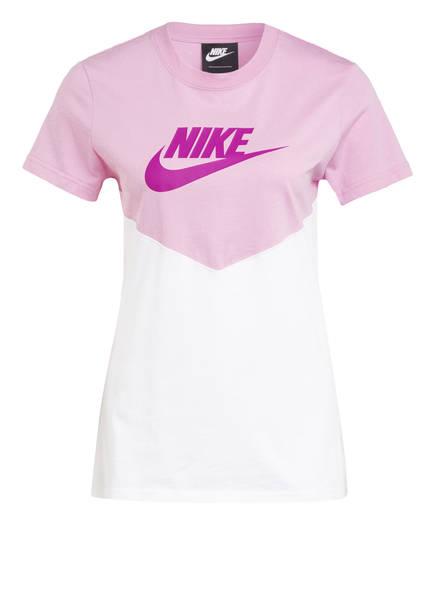 Nike T-Shirt HERITAGE, Farbe: ROSA/ WEISS (Bild 1)