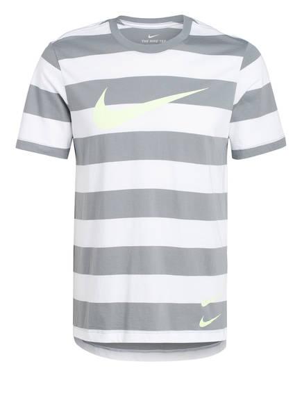 Nike T-Shirt SWOOSH , Farbe: GRAU/ WEISS  (Bild 1)
