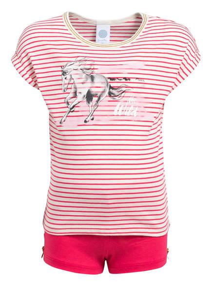 Sanetta Shorty-Schlafanzug, Farbe: PINK/ WEISS GESTREIFT (Bild 1)