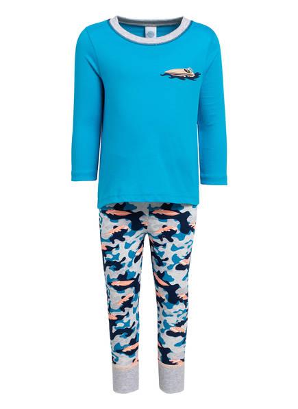 Sanetta Schlafanzug , Farbe: TÜRKIS/ HELLGRAU/ DUNKELBLAU (Bild 1)