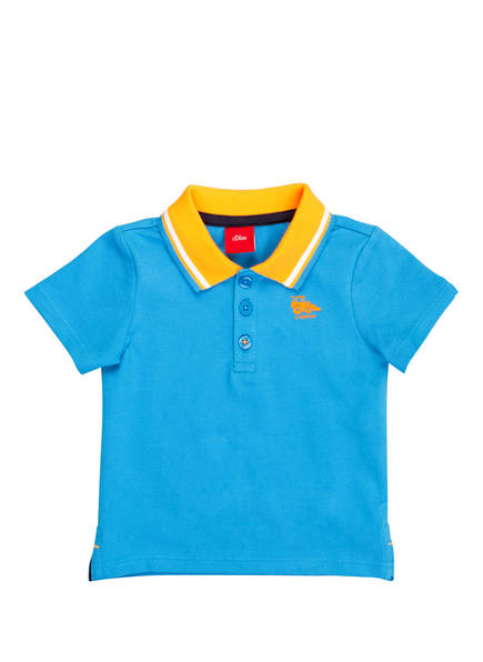 s.Oliver Piqué-Poloshirt, Farbe: HELLBLAU/ ORANGE (Bild 1)