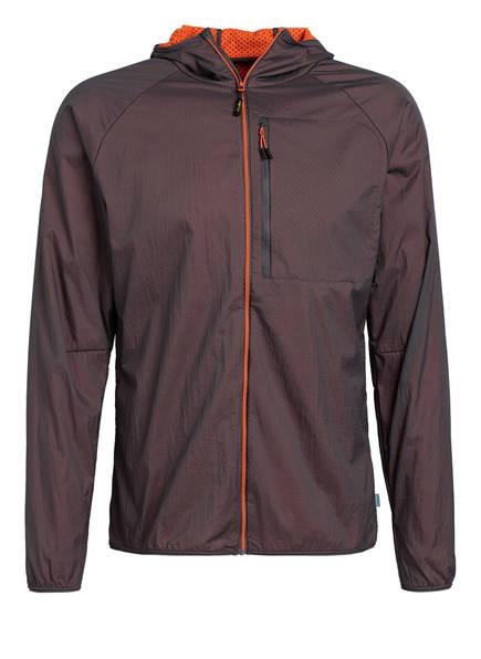 me°ru' Outdoor-Jacke LARVIK, Farbe: DUNKELGRAU/ ORANGE (Bild 1)