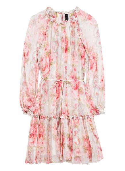 needle & thread Kleid mit Rüschenbesatz, Farbe: HELLROSA/ WEISS/ OLIV (Bild 1)