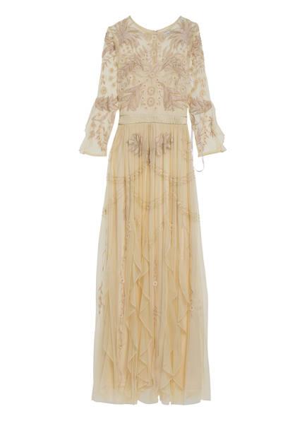 frock & frill Abendkleid mit Pailletten- und Schmucksteinbesatz, Farbe: HELLGELB (Bild 1)