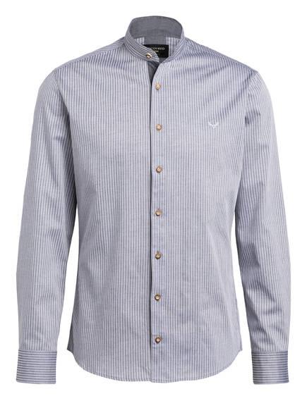 CocoVero Trachtenhemd FINLEY Slim Fit mit Leinenanteil, Farbe: HELLGRAU/ WEISS GESTREIFT (Bild 1)