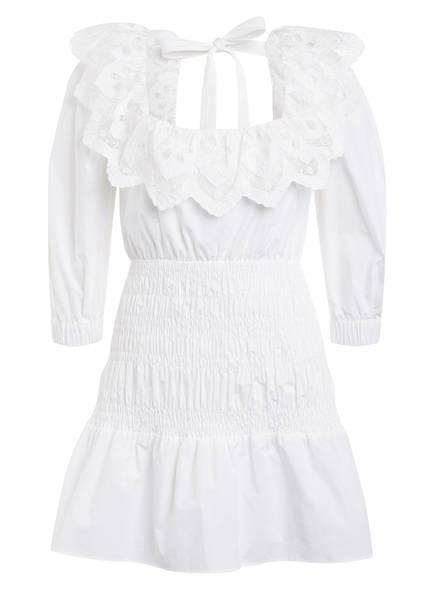 self-portrait Kleid mit Spitzenbesatz , Farbe: WEISS (Bild 1)