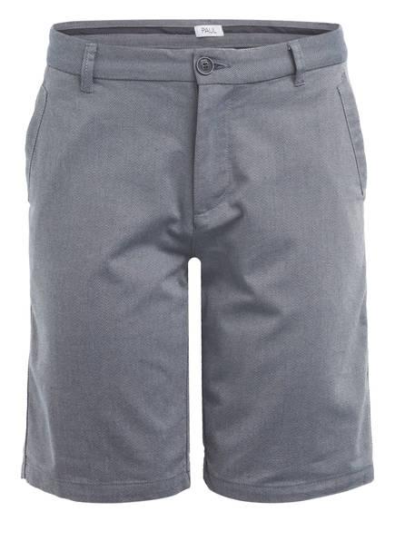 PAUL Shorts Slim Fit , Farbe: HELLGRAU/ DUNKELBLAU (Bild 1)