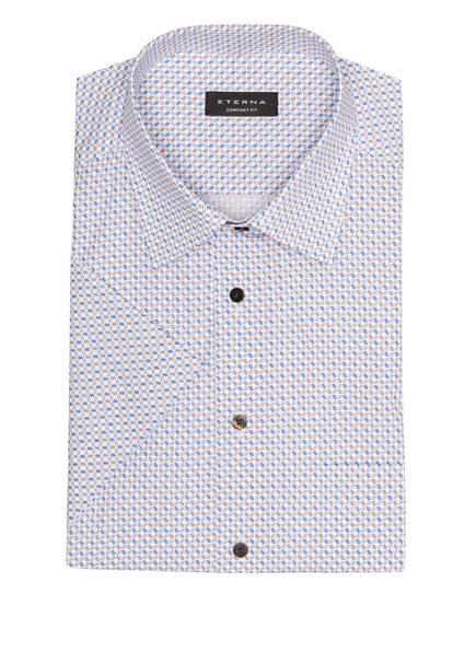 ETERNA Halbarm-Hemd Comfort Fit, Farbe: WEISS/ BLAU/ BRAUN (Bild 1)