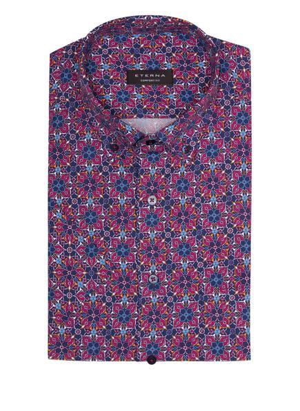 ETERNA Halbarm-Hemd Comfort Fit, Farbe: DUNKELBLAU/ FUCHSIA/ WEISS (Bild 1)