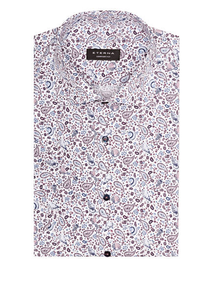 ETERNA Halbarm-Hemd Comfort Fit, Farbe: WEISS/ BLAU/ LILA (Bild 1)