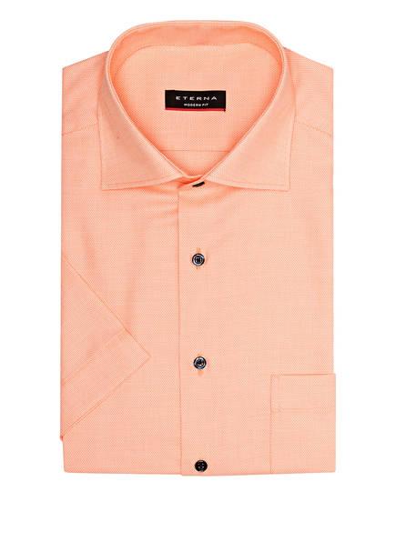 ETERNA Halbarm-Hemd Modern Fit, Farbe: ORANGE/ WEISS (Bild 1)