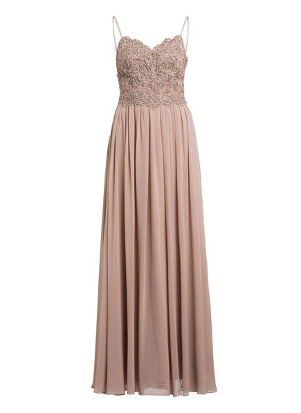 LAONA Abendkleid mit Schmucksteinbesatz, Farbe: BEIGE (Bild 1)