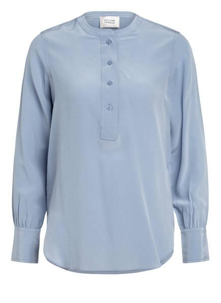 SECOND FEMALE Blusenshirt THORI aus Seide, Farbe: BLAUGRAU (Bild 1)