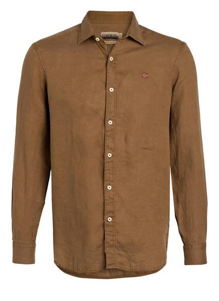NAPAPIJRI Leinenhemd GERVAS Regular Fit, Farbe: HELLBRAUN (Bild 1)