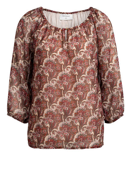 FREEQUENT Blusenshirt, Farbe: CREME/ ROT/ BRAUN (Bild 1)