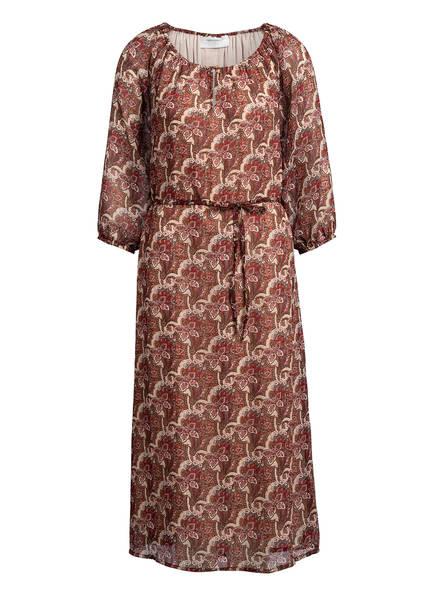 FREEQUENT Kleid mit 3/4-Arm, Farbe: CREME/ ROT/ BRAUN (Bild 1)
