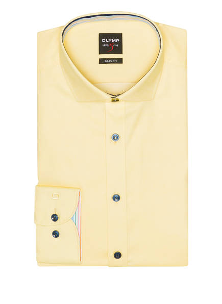 OLYMP Hemd Level Five body fit, Farbe: GELB (Bild 1)