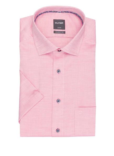 OLYMP Kurzarm-Hemd Luxor modern fit , Farbe: ROT/ WEISS (Bild 1)