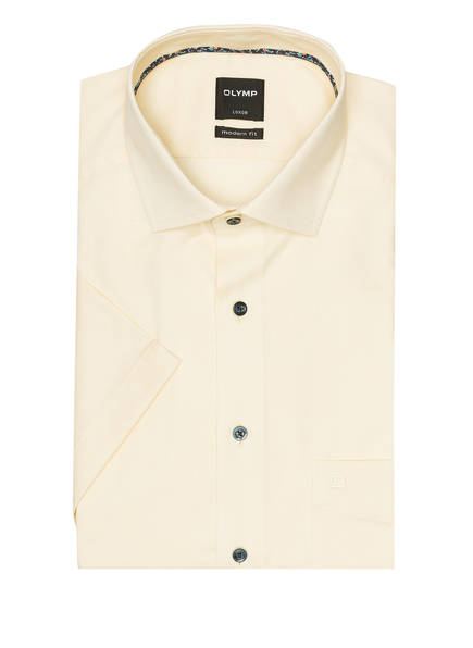 OLYMP Kurzarm-Hemd Luxor modern fit , Farbe: HELLGELB (Bild 1)