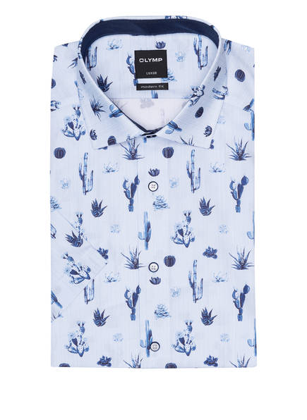 OLYMP Kurzarm-Hemd Luxor modern fit, Farbe: HELLBLAU/ DUNKELBLAU (Bild 1)