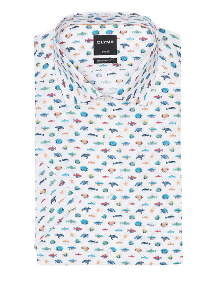OLYMP Kurzarm-Hemd Luxor modern fit, Farbe: WEISS (Bild 1)