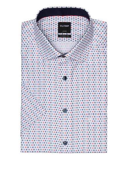 OLYMP Kurzarm-Hemd Luxor modern fit, Farbe: WEISS/ ROT/ DUNKELBLAU (Bild 1)