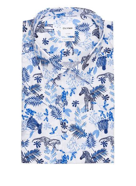 OLYMP Kurzarm-Hemd Luxor comfort fit, Farbe: WEISS/ BLAU (Bild 1)