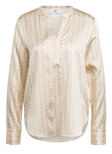 herzensangelegenheit Blusenshirt aus Seide, Farbe: BEIGE/ WEISS (Bild 1)