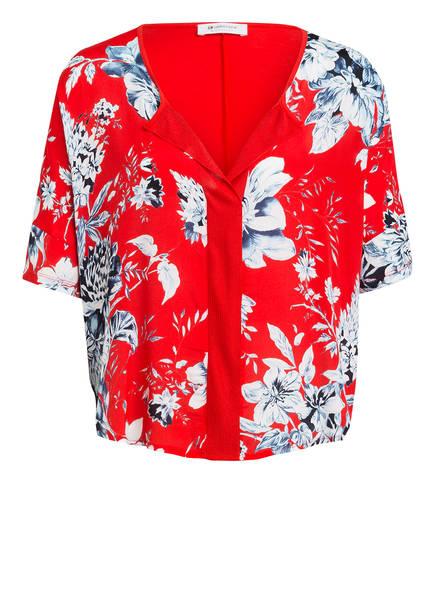 rich&royal T-Shirt im Materialmix, Farbe: ROT/ WEISS/ BLAU (Bild 1)