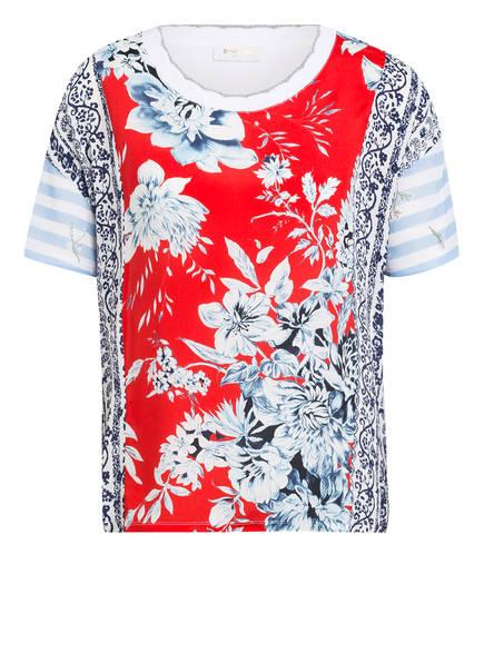 rich&royal T-Shirt im Materialmix mit Glitzergarn, Farbe: WEISS/ BLAU/ ROT (Bild 1)